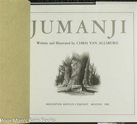 jumanji picture book discounted out of print obscure and used book bookstore