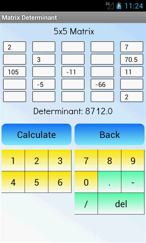 calculator matrix matrix determinant calculator android apps on google play