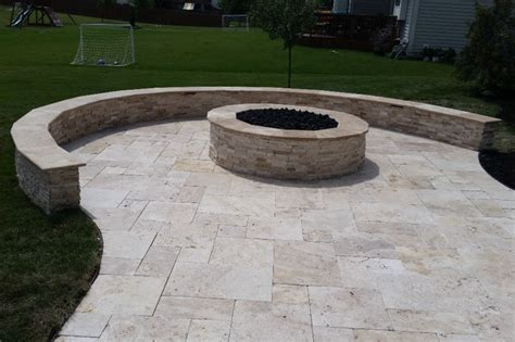sted concrete patio with pit pit with concrete seating wall pit highland ny photo gallery landscaping network