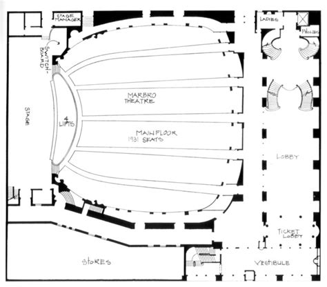 chicago theater floor plan marbro theatre in chicago il cinema treasures