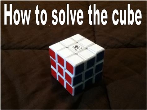 how to solve the rubik s cube