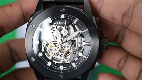 Fossil Machine Automatic Me3080 fossil me3080 modern machine automatic black stainless steel silent review hd