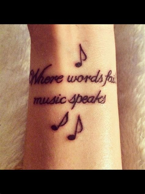 when words fail music speaks tattoo 22 best scroll images on scroll tattoos