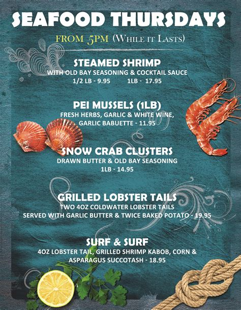 seafood restaurant menu seafood restaurant menu