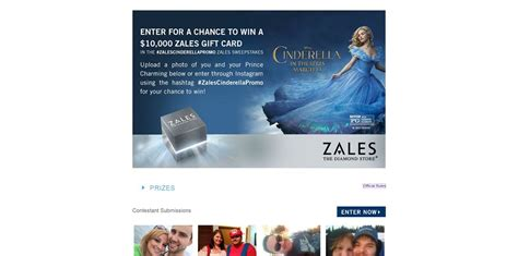 Zales Gift Card - zales cinderella sweepstakes zales com cinderella win a 10 000 zales gift card