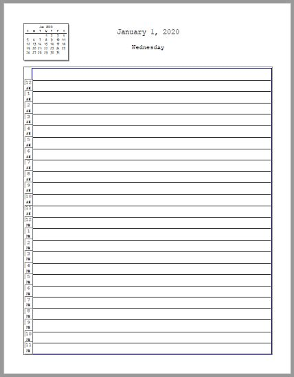 free printable daily planner by hour 24 hour daily tracker planner free to print pdf