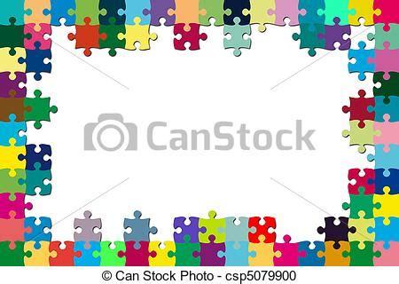 cornici puzzle archivio illustrazioni di puzzle cornice variopinto a