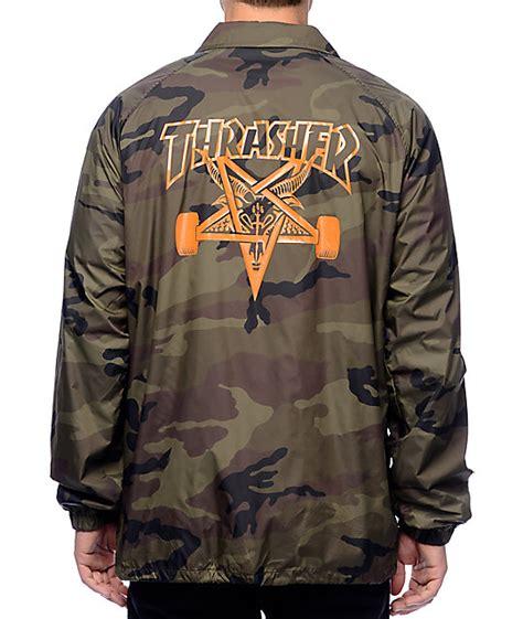 Jaket Trasher thrasher skategoat camo coaches jacket