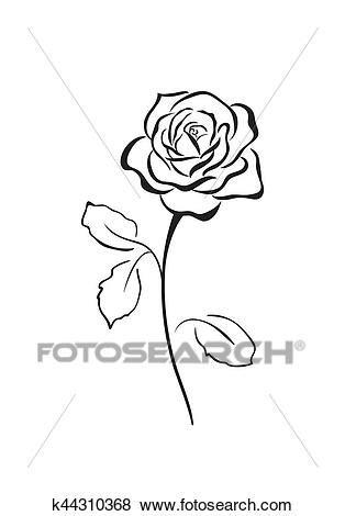 Clipart Fiore by Rosa Fiore Vettore Icona Clip K44310368 Fotosearch