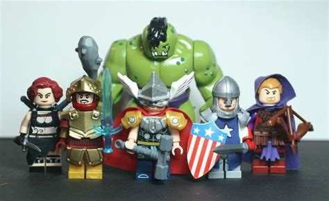 Lego Captain America Robot Eima lego marvel custom bigfig iron