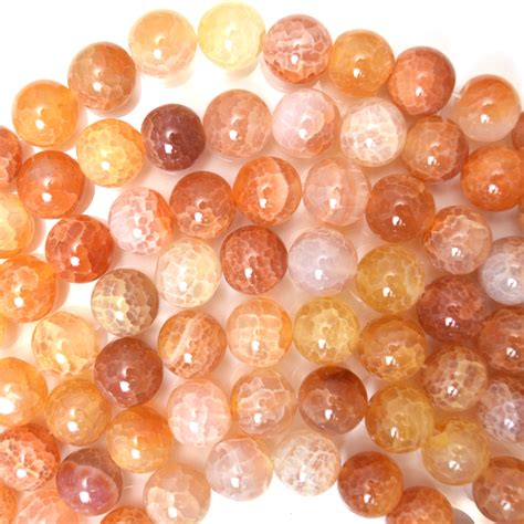 8mmyellow Crab Faceted Agate Orange Crab Agate Gemstone 15 Quot Strand 4mm