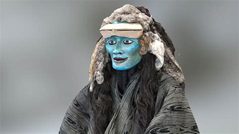 Masker 3d 213 sedna inuit sea goddess costume and mask 3d model by gerpho sketchfab