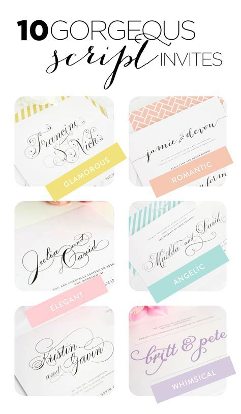 Top 10 Wedding Invitations with Script ? Wedding Invitations