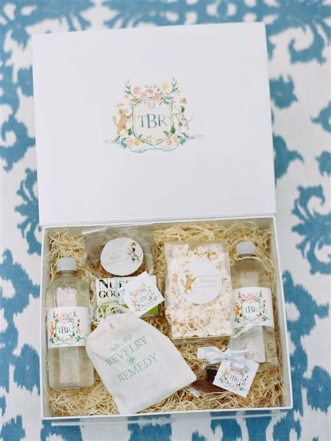 Wedding Welcome Box by What To Put In Wedding Welcome Bag It Weddings