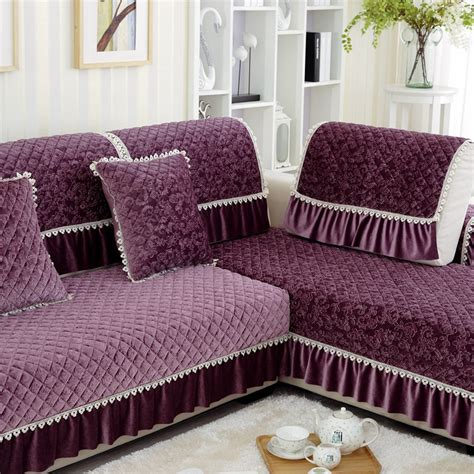Purple Chairs For Sale Design Ideas 1pc Lace Decorative Purple Sofa Towel Sectional Sofa Covers Modern Camel Seat Slipcover Cushion
