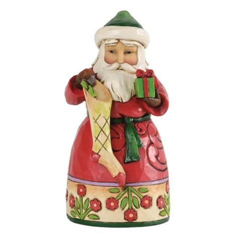 jim shore heartwood creek small santa with stocking