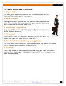 ejemplo de cover letter guide to part 1 cover letter and resume