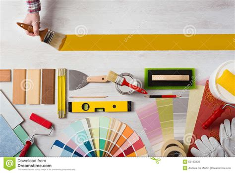 painting decorating painting and decorating diy banner stock photo image