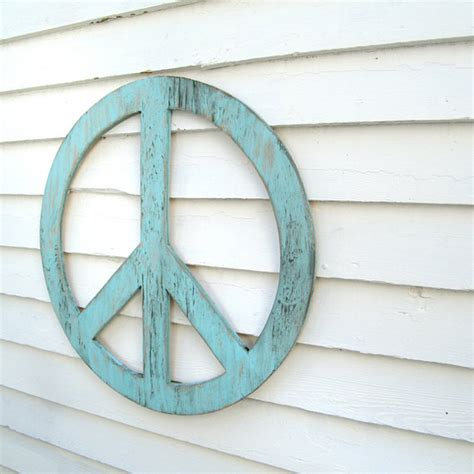 peace sign home decor big peace sign 24 peace symbol peace sign wall art