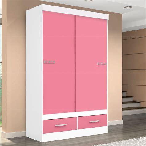 Lemari Geser lemari pakaian anak pintu geser warna pink lemari baju