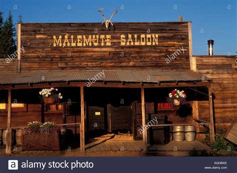 saloon alaska usa alaska ester parks higway malamute saloon historic miners saloon stock photo