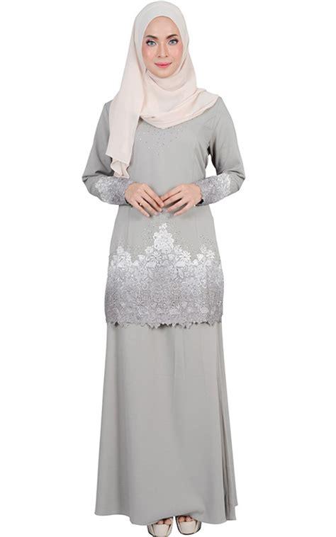 Baju Lace Grey baju kurung moden dewi grey baju kurung