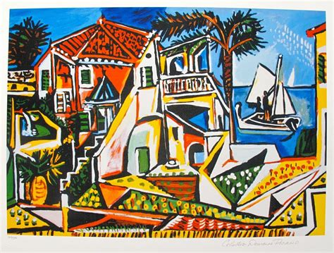 picasso big art 3822850284 pablo picasso mediterranean landscape estate signed limited edition giclee ebay
