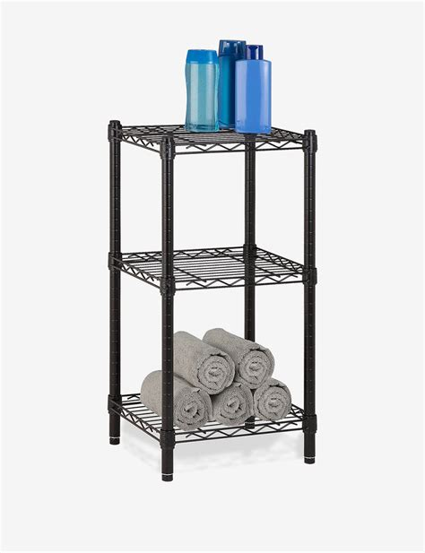 honey can do shelving honey can do 3 tier black wire shelving unit stage stores