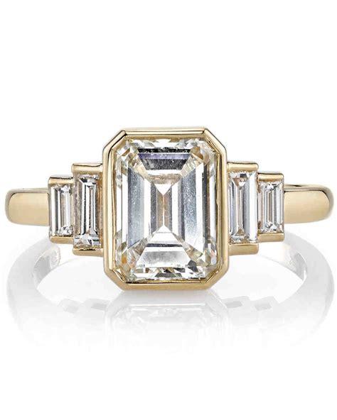 Emerald Cut Ring by Emerald Cut Engagement Rings Martha Stewart Weddings