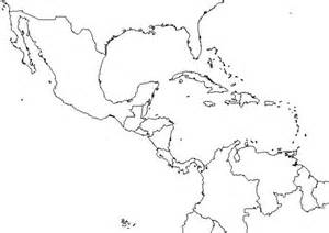 free blank outline map of central america and the caribbean