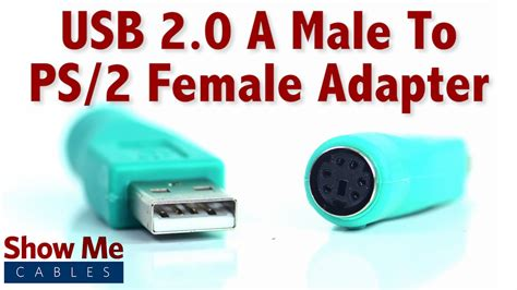 Easy To Use Usb 2 0 A Male To Ps 2 Female Adapter Use An