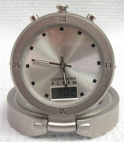 troika business meeting countdown travel alarm clock stainless steel clk55