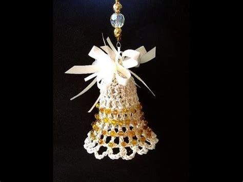 making christmas bell ornaments crochet bell ornament tree ornament bell bell ornament how to diy
