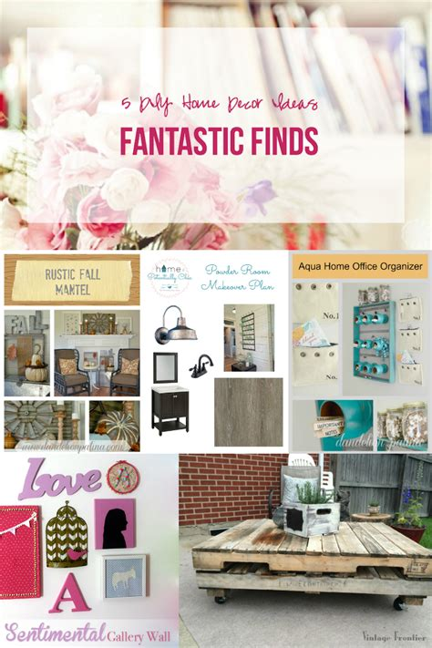 fantastic finds 5 diy home decor ideas happily