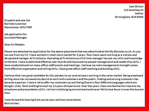 how to get a covering letter exles for assistant