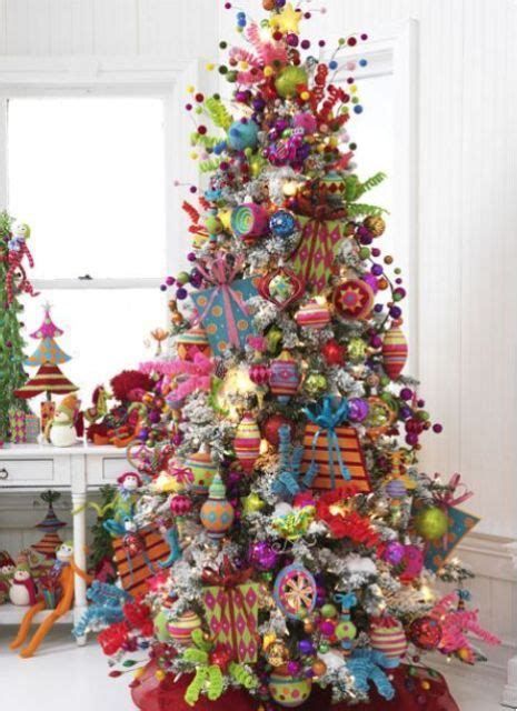 howmuch is too much for christas decorations 23 colorful tree d 233 cor ideas shelterness