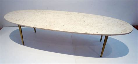 marble oval coffee table mid century modern marble and brass large oval coffee