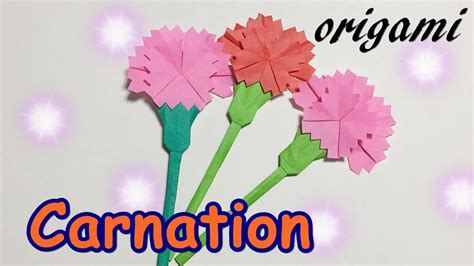 Origami Carnation Flower - origami s day gift ideas how to make a paper
