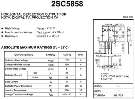 transistor horizontal c5885 c5858 datasheet pdf datasheetq
