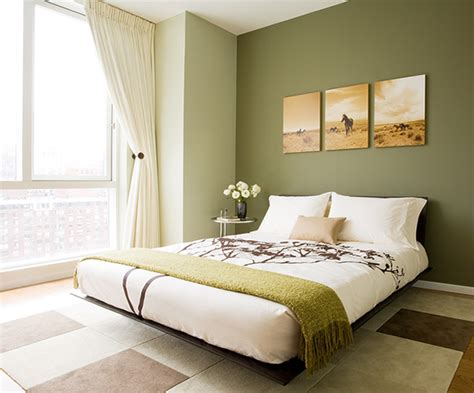 Brown And Green Bedroom by Platform Bed Transitional Bedroom Susan Kennedy Design