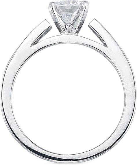 channel set princess cut cathedral engagement ring