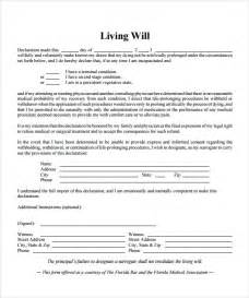 Living Will Template Word by Sle Living Will 7 Documents In Pdf Word
