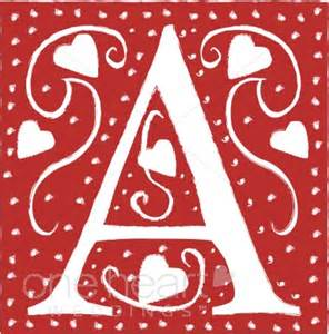 Red Letter A Clipart   Wedding Heart Font