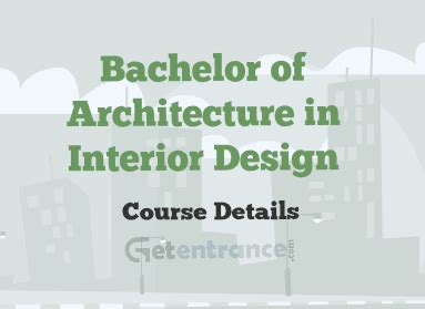Mba In Interior Designing Syllabus by Bachelor Of Architecture In Interior Design Course Details
