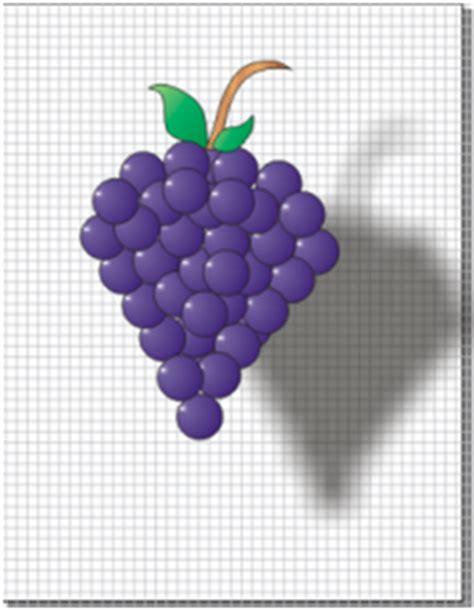 racimo de uvas corel tecnicas de representacion grafica uvas