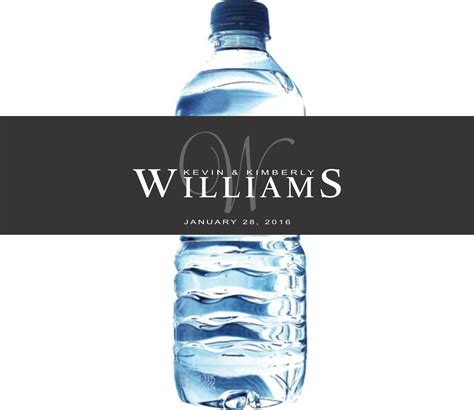 wedding water bottle labels monogram water bottle labels for weddings