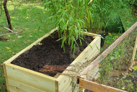 It S Not Work It S Gardening Another Bamboo Planter Box Bamboo Planter Box