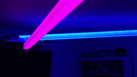 Led Strip Lights In Plexiglass At Coral S Room Youtube Led Light Strips In Room