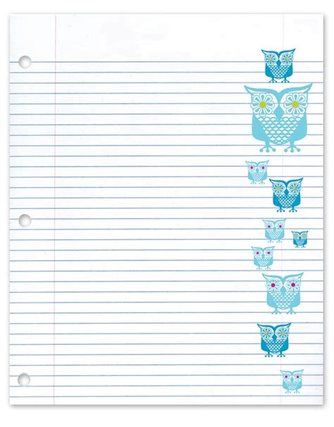 printable notebook paper with designs 148 best colorful and cute paper for projects images on