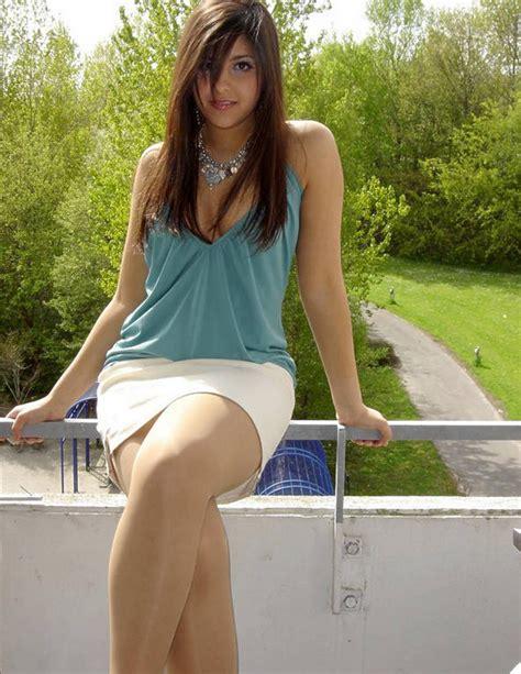 Hot girl mini skirt